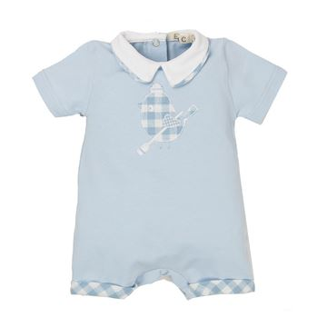 Picture of EMC Baby Boys Blue Romper