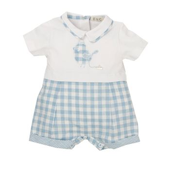 Picture of EMC Baby Boys Blue Checked Romper