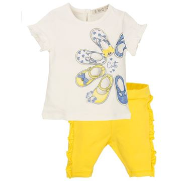 Picture of EMC Girls White & Yellow Leggings Set