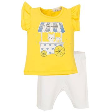 Picture of EMC Girls Yellow Top & Leggings Set