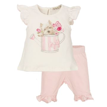 Picture of EMC Baby Girls Pink Leggings Set