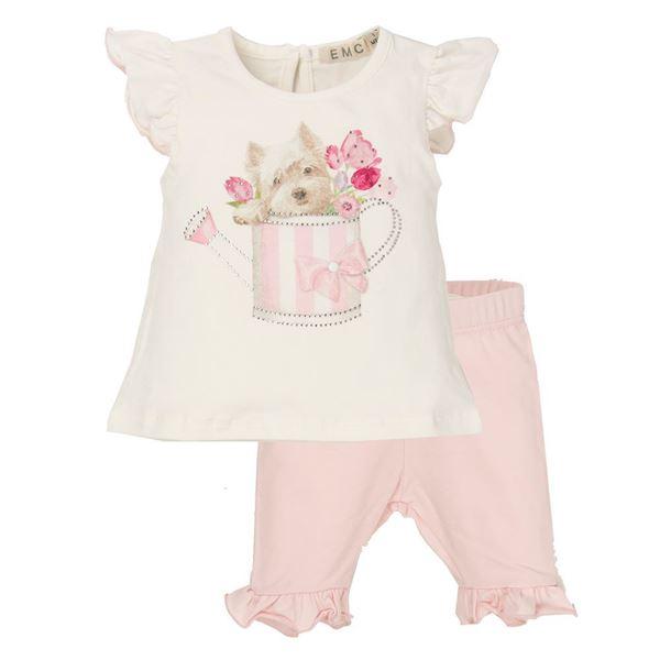 Picture of EMC Baby Girls Pink Leggings Set