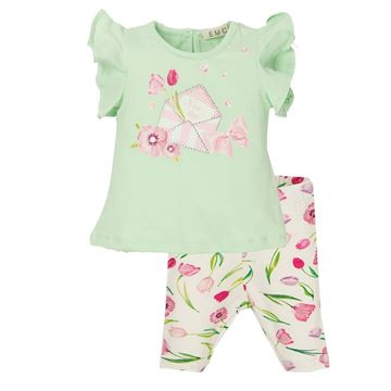 Picture of EMC Baby Girls Pink & Green Leggings Set