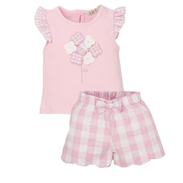 Picture of EMC Baby Girls Pink Checked Top & Shorts Set