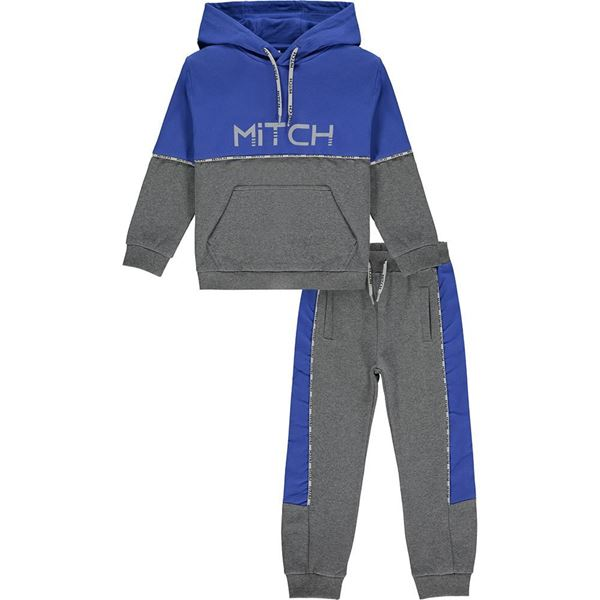 Picture of Mitch Boys 'Bolivia' Grey Hooded Tracksuit