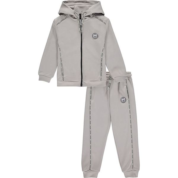 Picture of Mitch Boys 'Salvador' Grey Zip Tracksuit