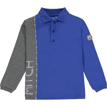 Picture of Mitch Boys 'Ecuador' Blue Polo Top
