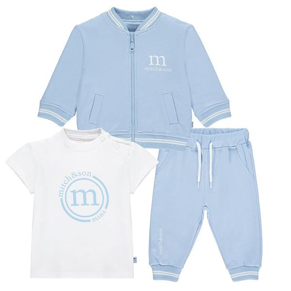 Picture of Mitch & Son Mini Baby 'Hellen' Blue 3 Piece Tracksuit