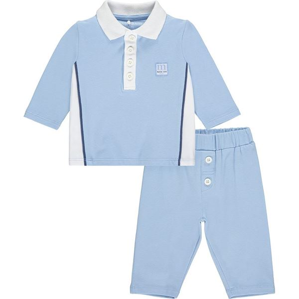 Picture of Mitch & Son Mini Baby 'Howard' Blue Polo Set