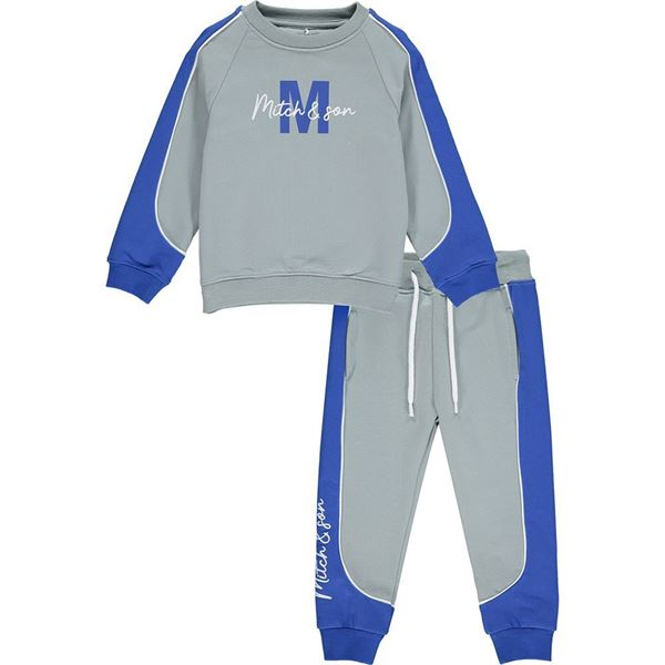 Picture of Mitch & Son Boys 'South Frederick' Pale Grey Tracksuit