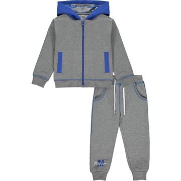 Picture of Mitch & Son Boys 'Seaward' Grey Zip Tracksuit