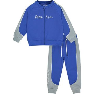 Picture of Mitch & Son Boys 'Stirling' Blue Zip Tracksuit