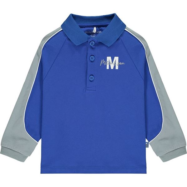 Picture of Mitch & Son Boys 'Steel' Blue Polo Top