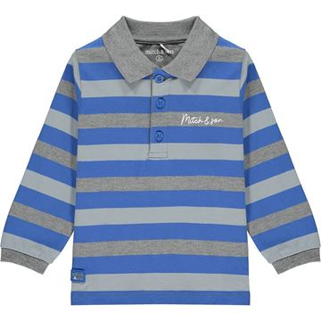 Picture of Mitch & Son Boys 'Stanley' Blue Striped Polo Top