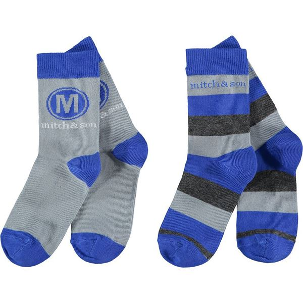 Picture of Mitch & Son Boys 'Stafford' Pack of 2 Royal Blue Socks