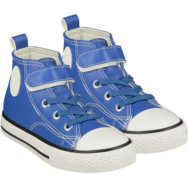 Picture of Mitch & Son Boys 'Chuck' Royal Blue High Top Trainers