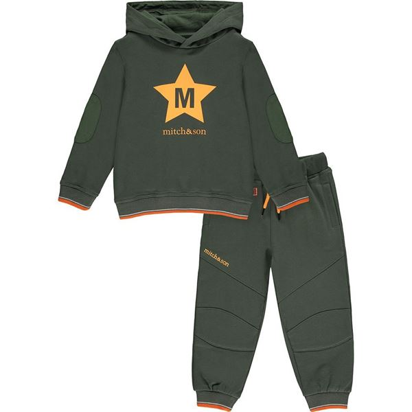 Picture of Mitch & Son Boys 'Millar' Khaki Hooded Tracksuit