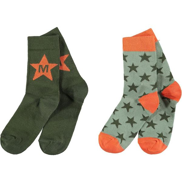 Picture of Mitch & Son Boys 'Milnpark' Khaki Pack of 2 Socks