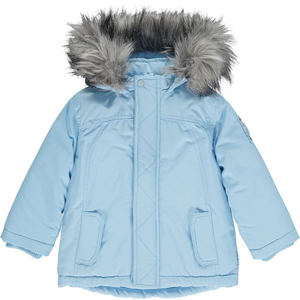 Picture of Mitch & Son Boys 'Paisley' Blue Coat with Faux Fur