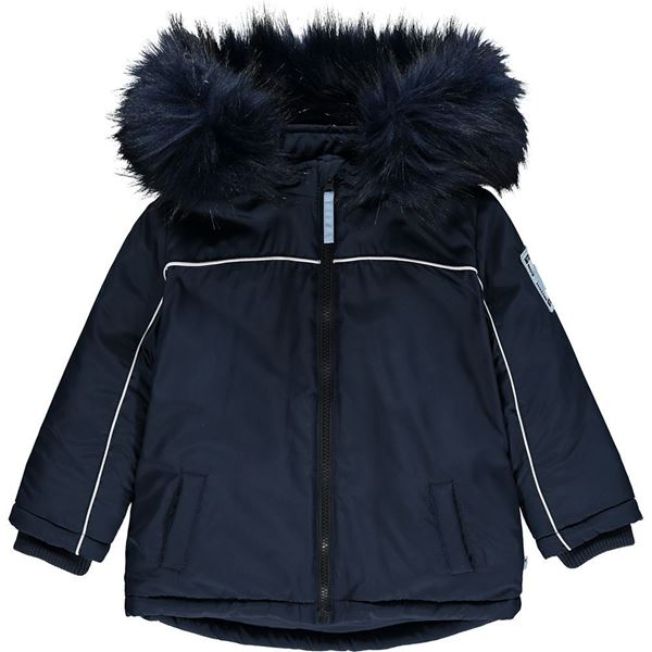 Picture of Mitch & Son Boys 'Mcalpine' Navy Blue Coat with Faux Fur