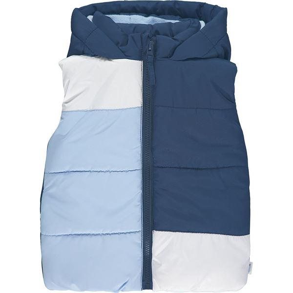 Picture of Mitch & Son Boys 'Payne' Blue Block Gilet