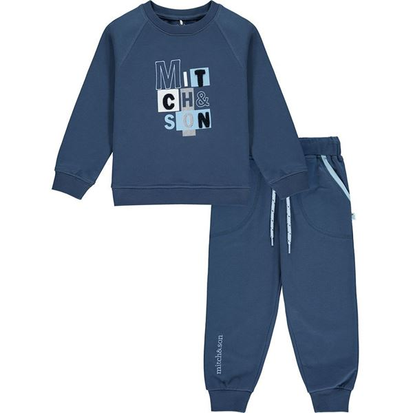 Picture of Mitch & Son Boys 'Pheonix' Navy Tracksuit