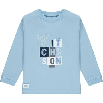 Picture of Mitch & Son Boys 'Pinkston' Blue Block Top