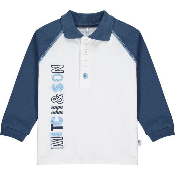 Picture of Mitch & Son Boys 'Park' White Polo Top