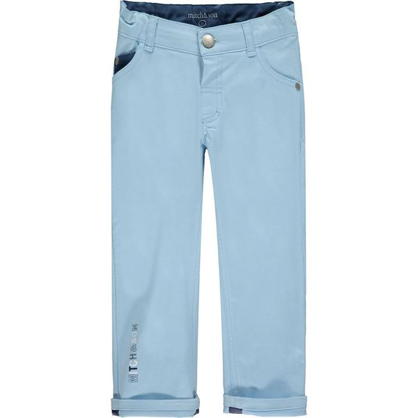 Picture of Mitch & Son Boys 'St  Peters' Blue Trouser