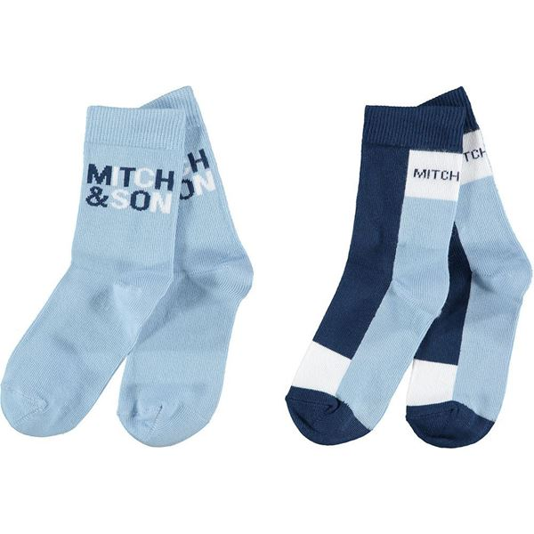 Picture of Mitch & Son Boys 'Parsonage' Blue Pair of 2 Socks