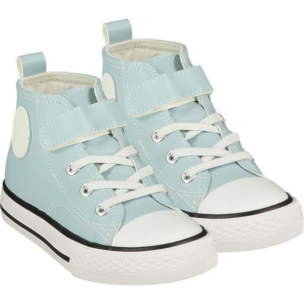 Picture of Mitch & Son Boys  'Chuck' Blue High Top Trainers
