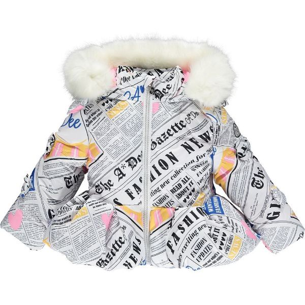 Picture of Ariana Dee Girls 'Sophia' Newspaper Print Coat
