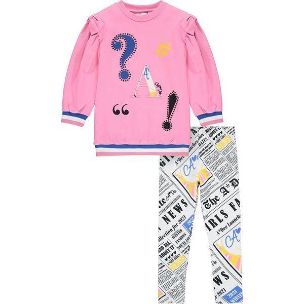 Picture of Ariana Dee Girls 'Samantha' Pink Leggings Set