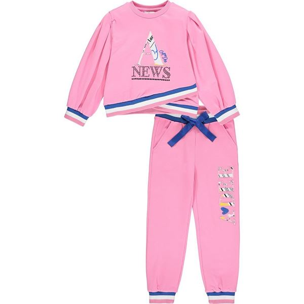 Picture of Ariana Dee Girls 'Sienna' Pink Tracksuit