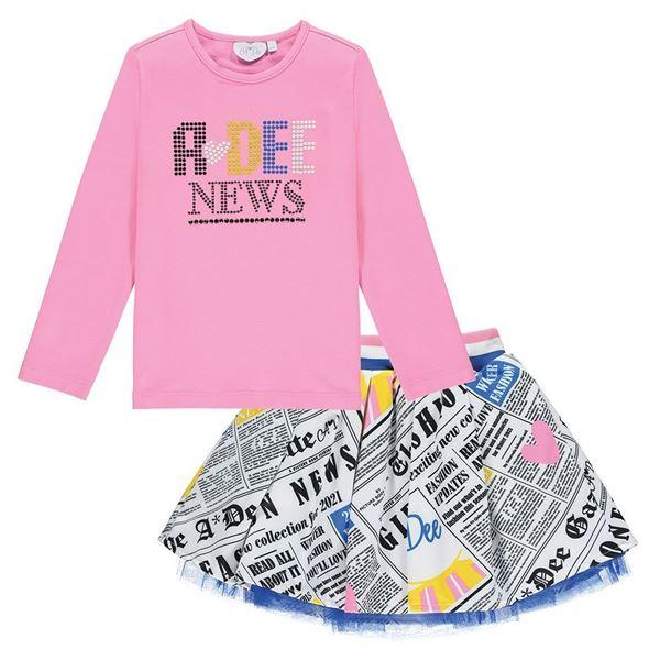 Picture of Ariana Dee Girls 'Selena' Newspaper Skirt Set