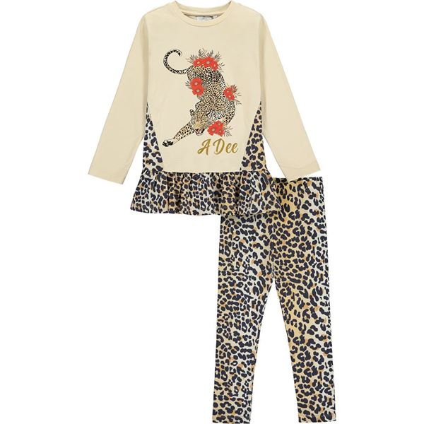Picture of Ariana Dee Girls 'Tiffany' Leopard Print Leggings Set