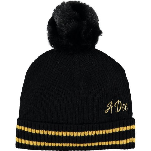 Picture of Ariana Dee Girls 'Terrie' Black Pom Pom Hat