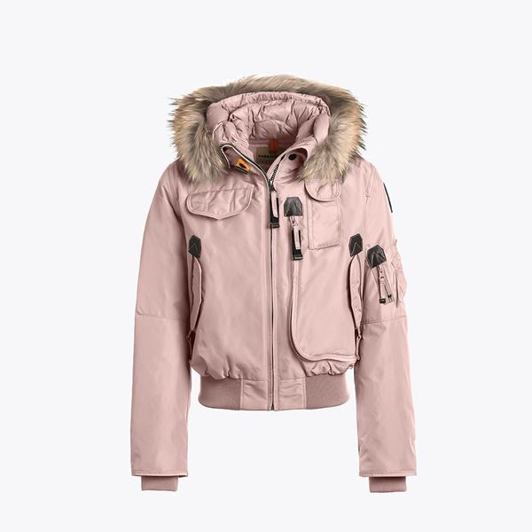 Picture of Parajumpers 'Gobi' Girls Pink Bomber Jacket with Fur