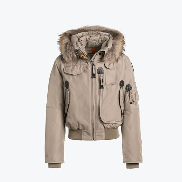 Picture of Parajumpers 'Gobi' Girls Atmosphere Bomber Jacket with Fur