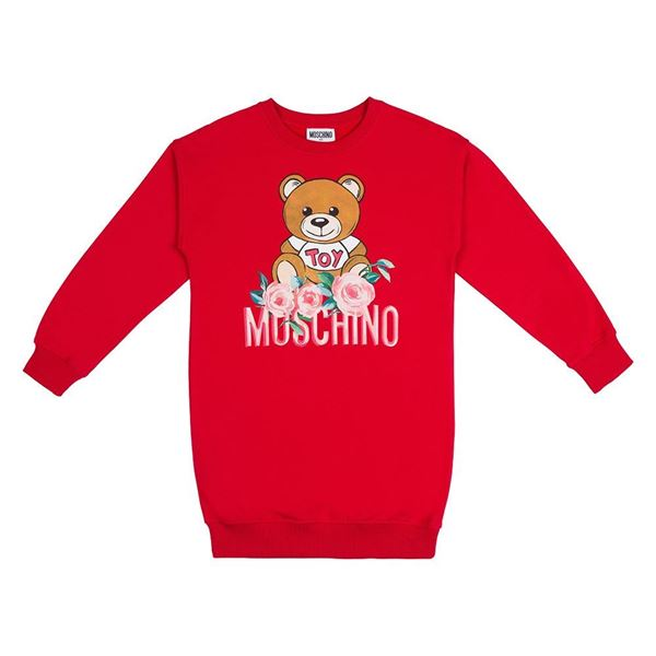 Picture of Moschino Girls Red Jumper Dress