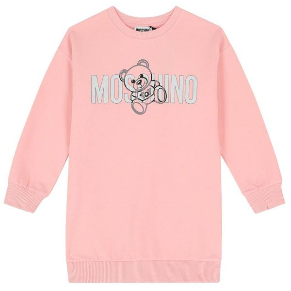 Picture of Moschino Girls Pink Teddy Jumper Dress