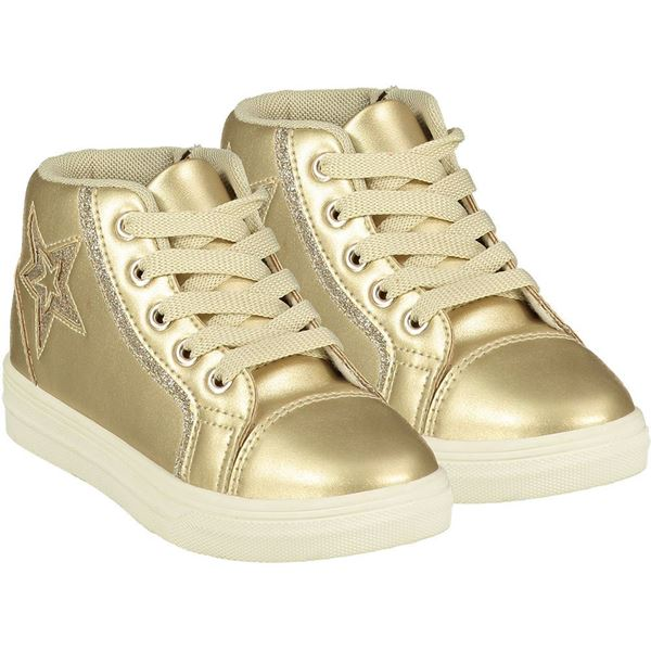 Picture of Ariana Dee Girls 'Star' Gold High Top