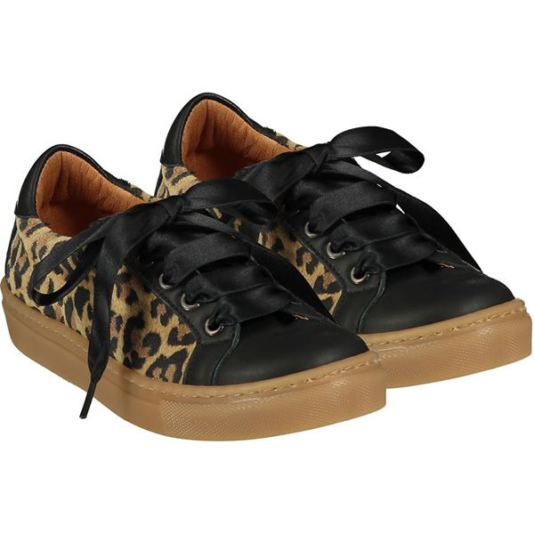 Picture of Ariana Dee Girls 'Ribbon' Leopard Trainers