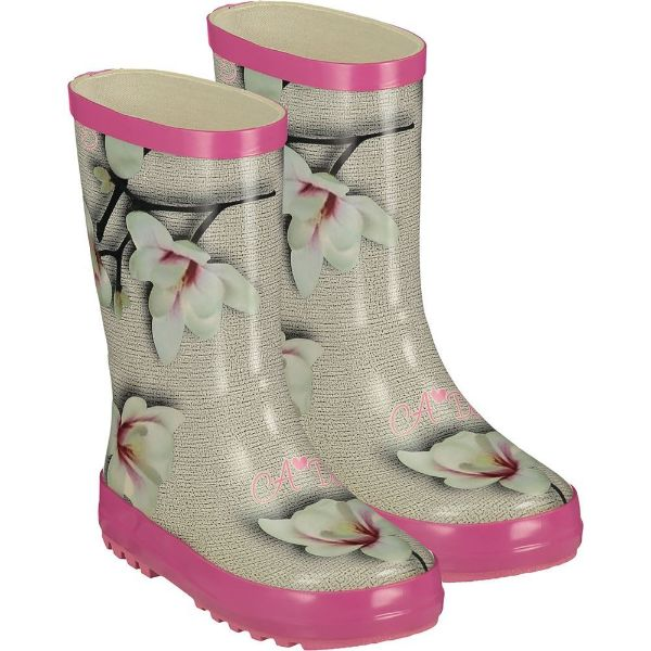 Picture of Ariana Dee Girls 'Splash' Grey & Pink Wellies