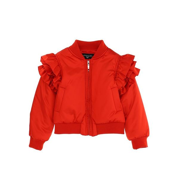 Picture of Monnalisa Girls Red Frill Sleeve Jacket