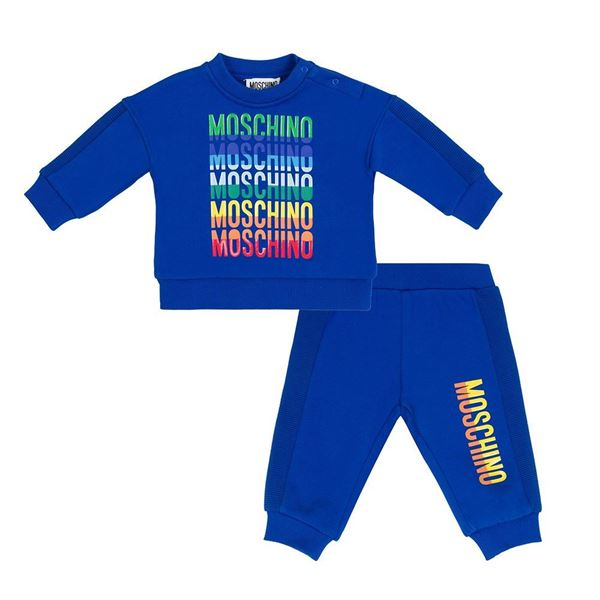 Picture of Moschino Baby Boys Blue Tracksuit
