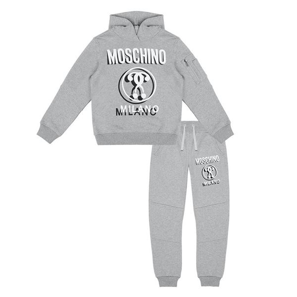 Picture of Moschino Boys Grey Hooded Tracksuit