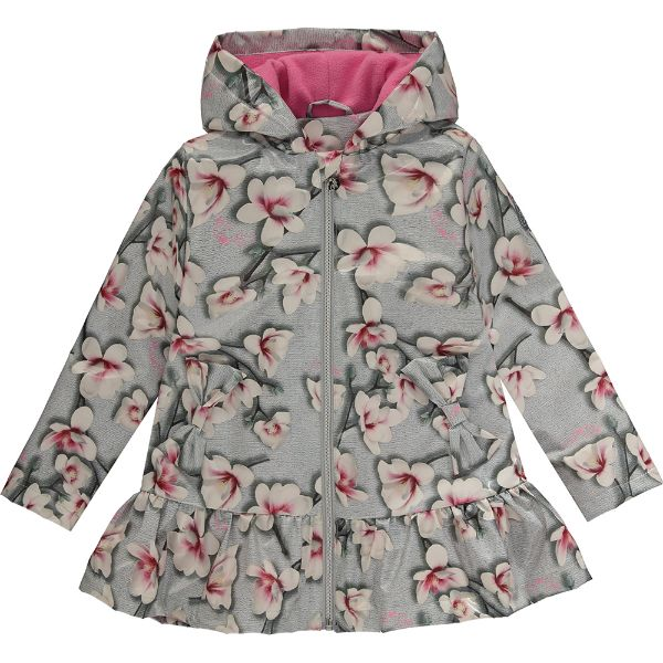 Picture of Ariana Dee Girls 'Piper' Grey Print Raincoat