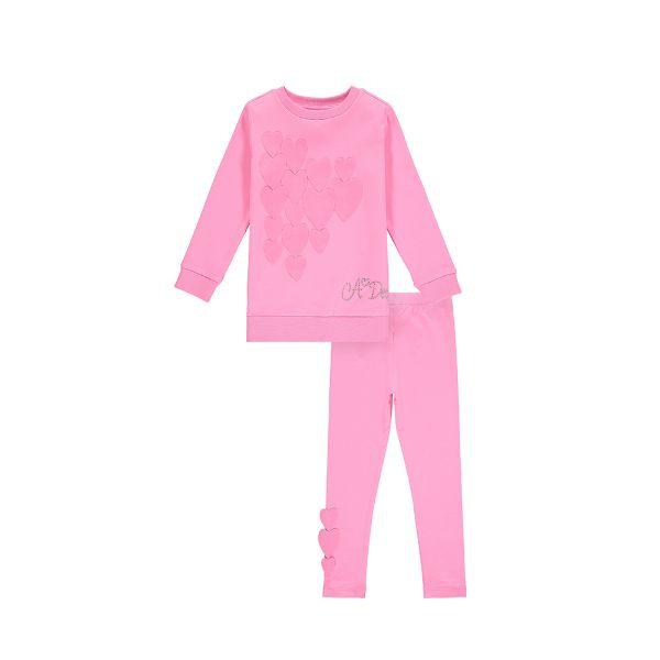 Picture of Ariana Dee Girls 'Phoenix' Pink Heart Leggings Set