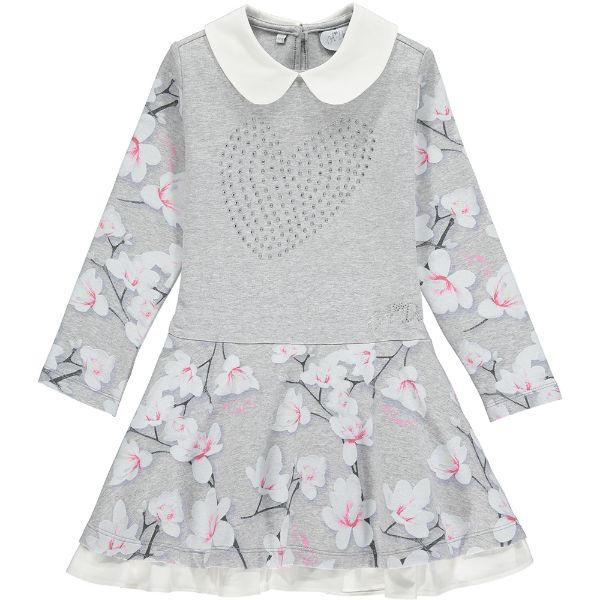 Picture of Ariana Dee Girls 'Princess' Grey  Dress with Collar
